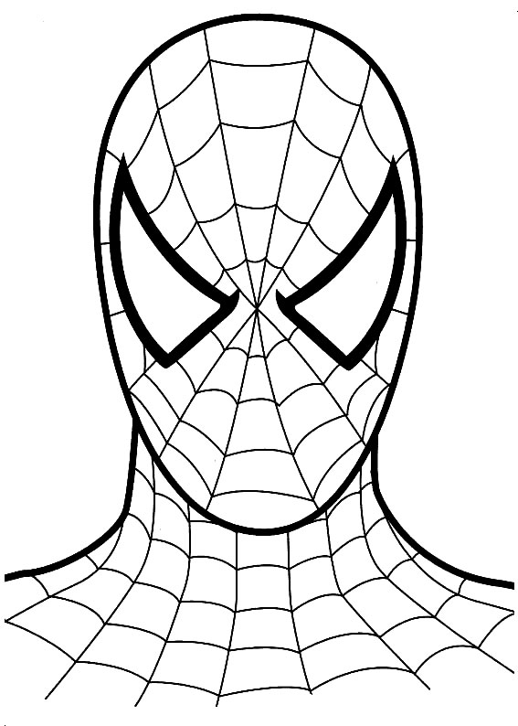 kids under 7 spider man coloring pages