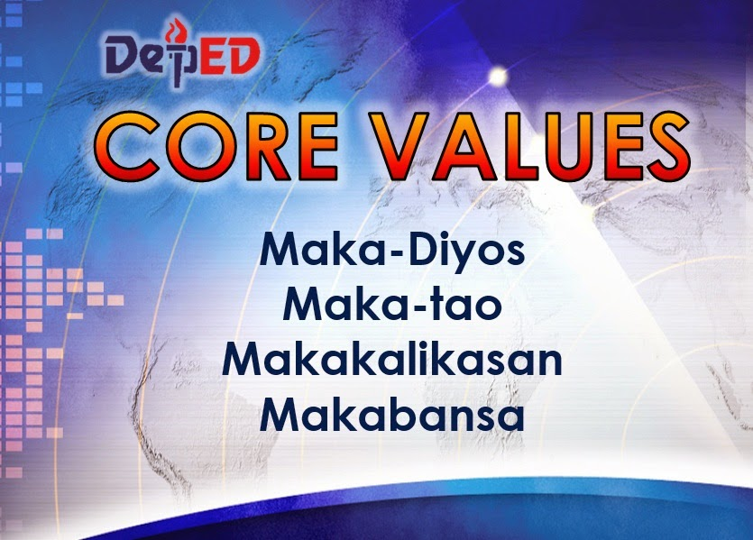 filipino core values The nstp values in filipino main goal is to empower the filipino youth by empowering them with skills the four values includes civic consciousness.