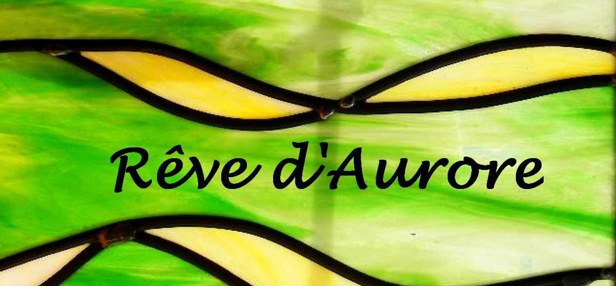 Rêve d'Aurore création en vitrail