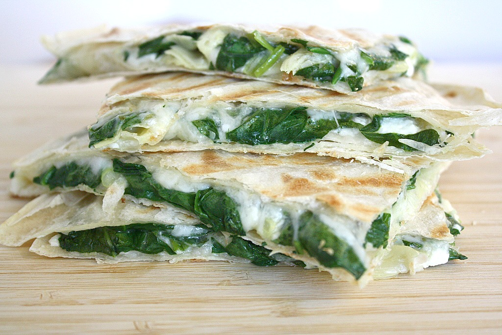 Spinach And Feta Quesadillas Recipe — Dishmaps