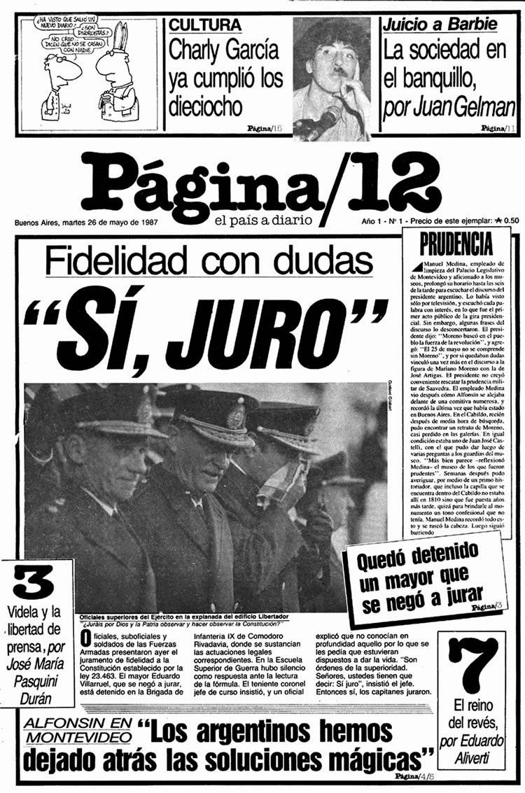PAGINA 12 - LA HISTORIA DE UN PERIÓDICO QUE YA NO ES