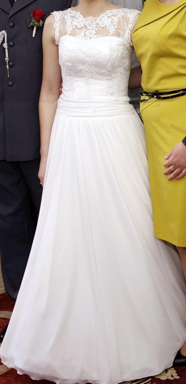 Suknie ślubne Vestido Suknia O Kroju Litery A Koronkowa Góra