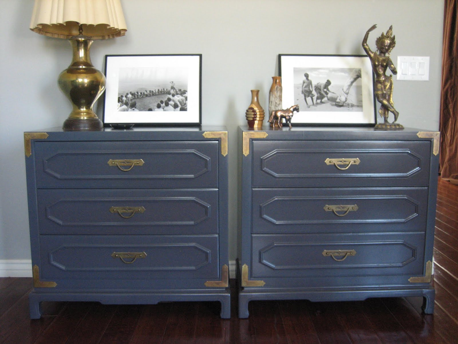 Campaign Style Bedside Tables ~