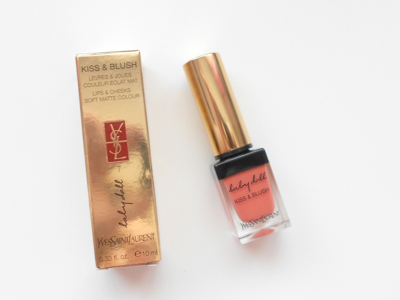 YSL Babydoll Kiss & Blush shade 7 (Corail Affranchi)