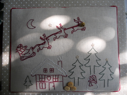 Natale in Broderie rouge