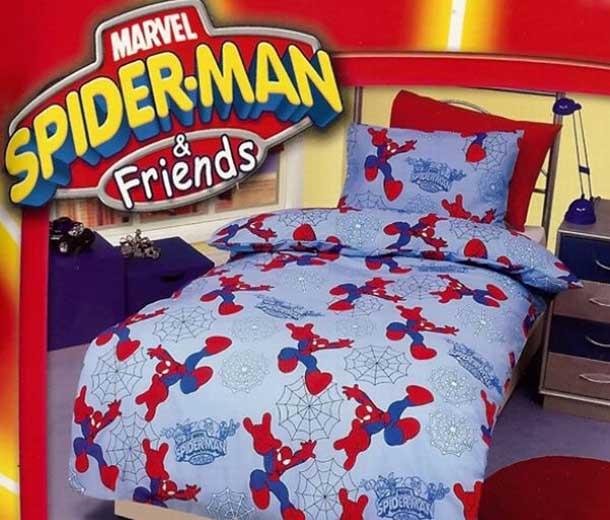 superhero bedding theme for boys bedroom interior decorating idea