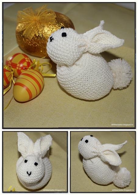 Strikket kanin - Knitted bunny