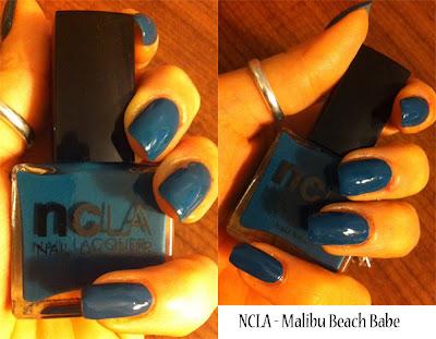 NCLA nail polish review Malibu beach babe