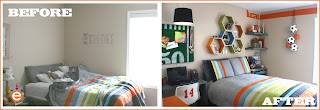 teen, boy's, room makeover, room ideas, sports, soccer by Aaron Christensen