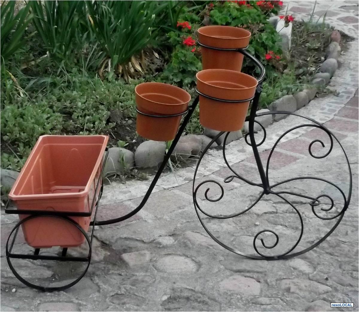 Porta maceteros en fierro forjado fierro forjado chile for Bancas para jardin de herreria