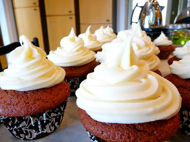 Red Velvet Cupcakes ~ Recipe #1 (They don't look very red, do they?)