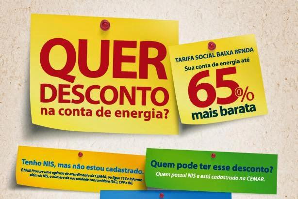Tarifa Social de enegia elétrica - Atualize seus dados urgente