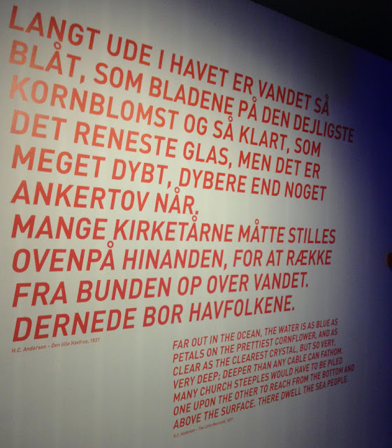 A quote from HC Andersen's The Little Mermaid at the Maritime Museum of Denmark by Bjarke Ingels Group