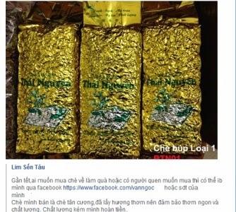 Cẩn thận với chè Thái Nguyên rao bán trên mạng