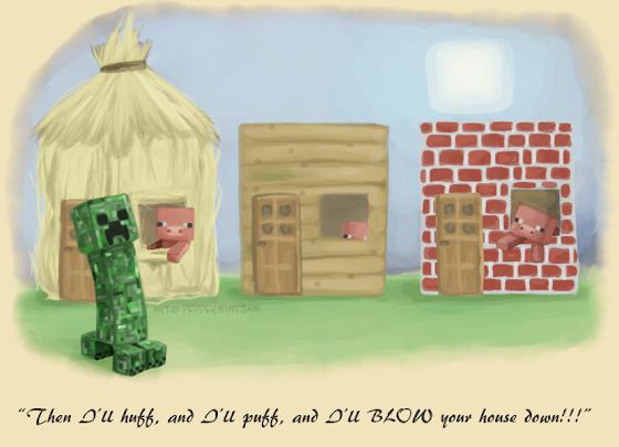 Trois Petits Cochons Minecraft