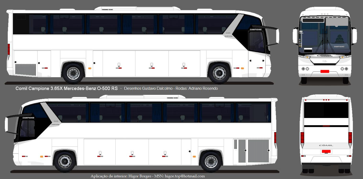 Completo buses dise o buses en blanco - Diseno blanco ...