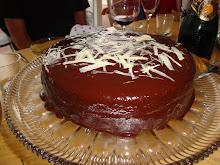 Chokoladekage m. chokolade/kaffecreme
