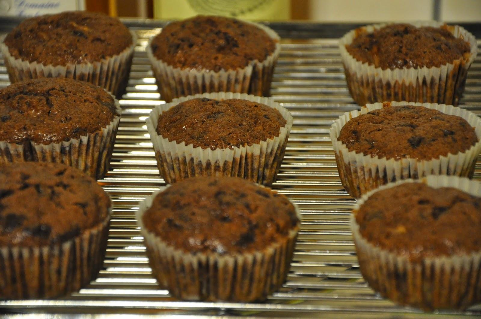 Spannenlanger Hansel, nudeldicke Dirn' - Leckere Birnenverwertung | Schoko-Birnen-Kuchen als Muffins