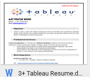 httpsdrivegooglecomfiled0bwnjmc0nhoqkwkdgnzzqmejtm3m - Tableau Developer Resume