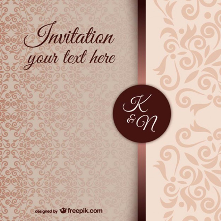 Retro Wedding Invitation with great invitations design