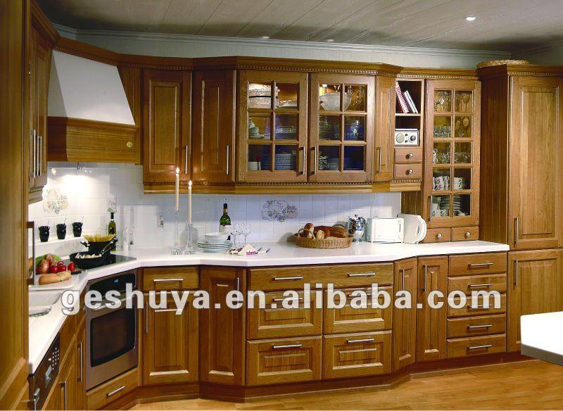 Modele de cuisine en bois peint for Modele meuble cuisine