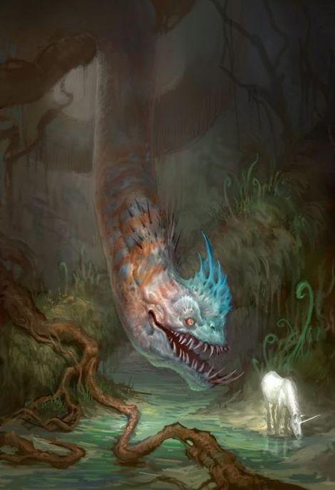 Andrew Olson ilustrações digitais fantasia arte conceitual O último unicórnio