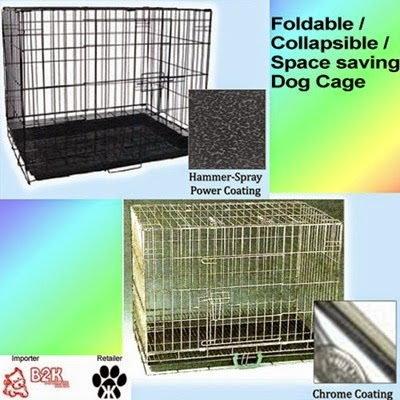 Space Saving Foldable Dog Cage