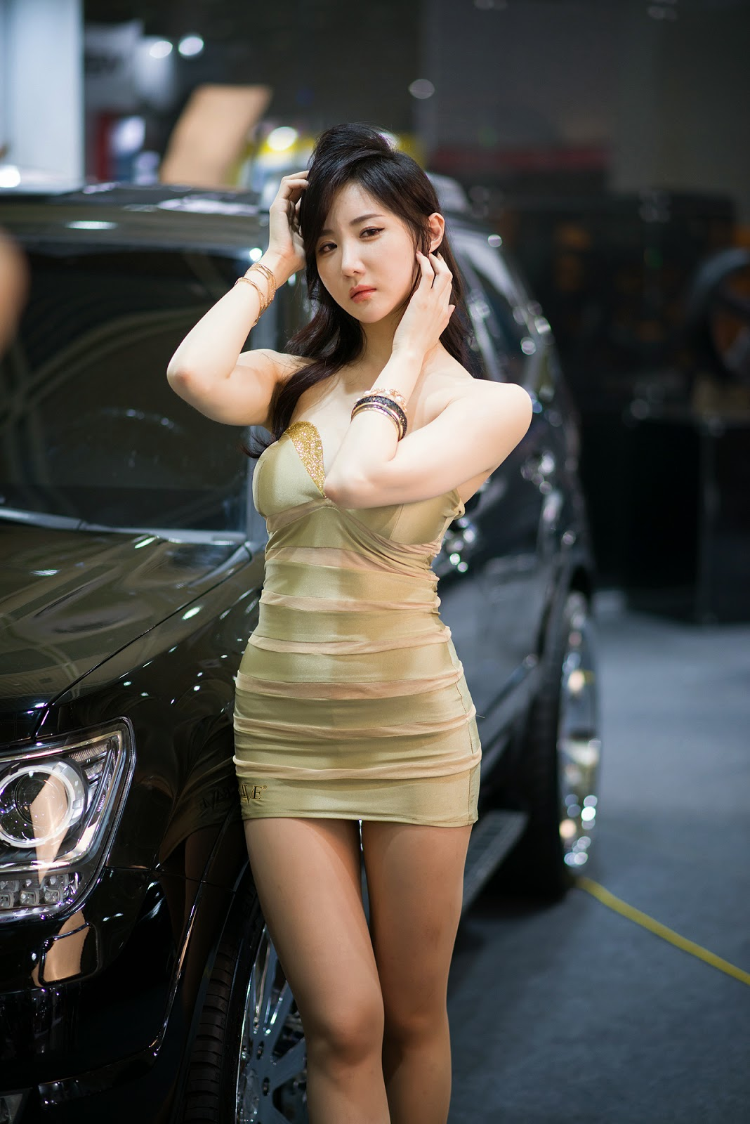 2 Yeon Da Bin - Seoul Auto Salon 2014 - very cute asian girl-girlcute4u.blogspot.com