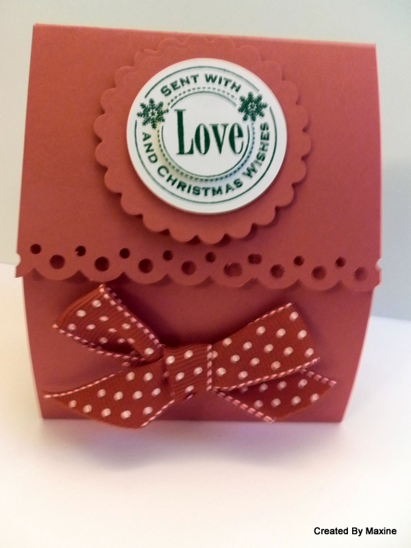 ... Claire's Designs: Weekly Project - Last Minute Christmas Treat Bag