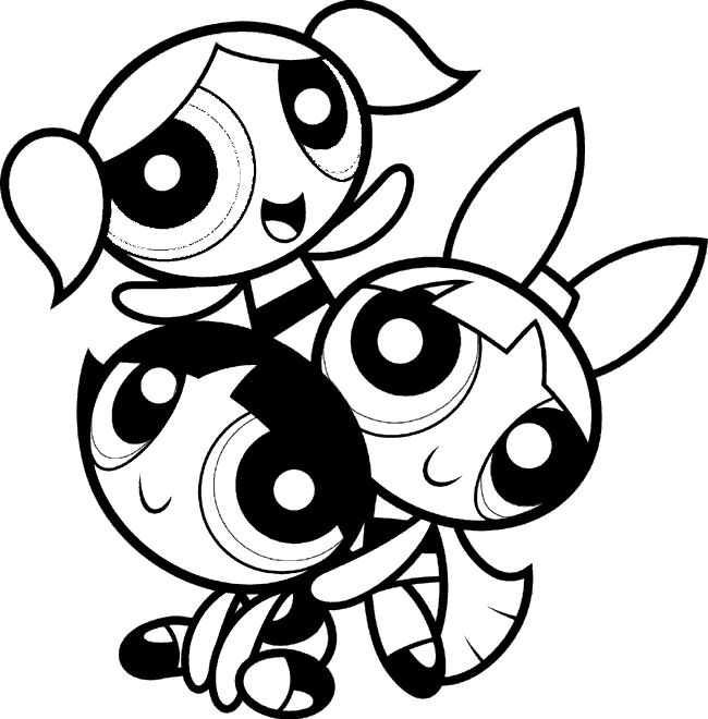 Fun learn free worksheets for kid for Powerpuff girls coloring pages