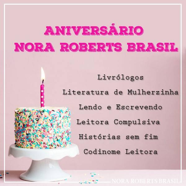 Sorteio 15 anos de Nora Roberts Brasil