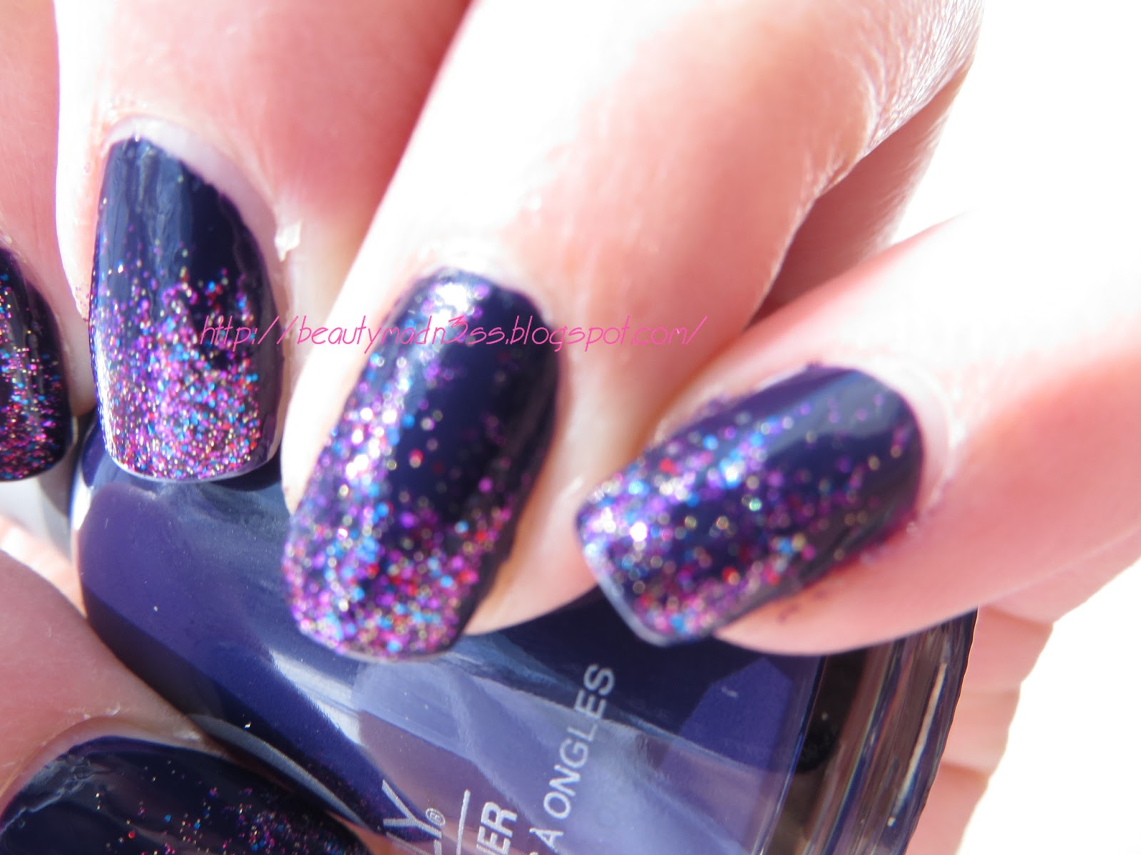 Orly Wild Wisteria swatch, Butter London Lovely Jubbly swatch