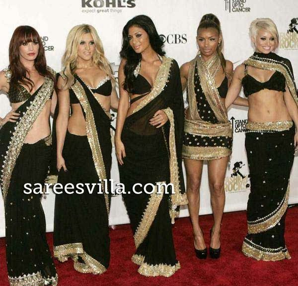 Pussycat Dolls in sarees