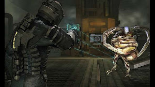 Isaac Clark faces a Pregnant from Dead Space