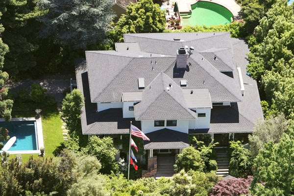 mark zuckerberg house in palo alto. Bird eye view of Mark