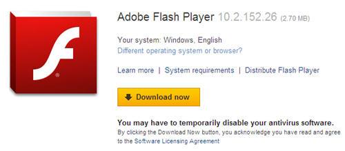 version 10 flash player download adobe