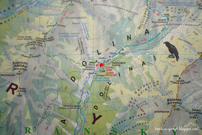 Žiarska Chata - mapa