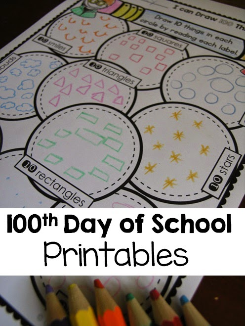 100th day printables ready to go