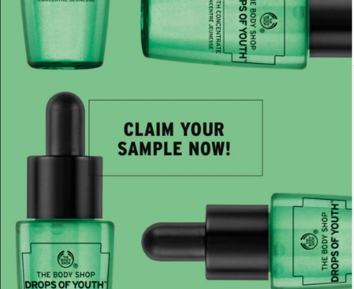The Body Shop Free Sample Drops of Youth Concentrate