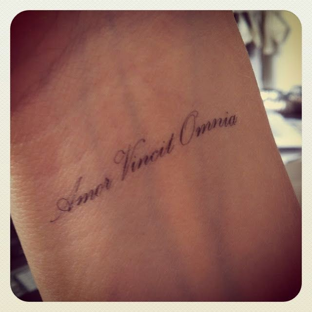 Beautiful quote tattoo on wrist