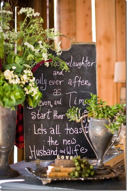 Rustic Vintage Shabby Chic Wedding Reception Ideas