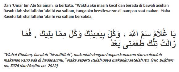 Hadist Shahih Makan