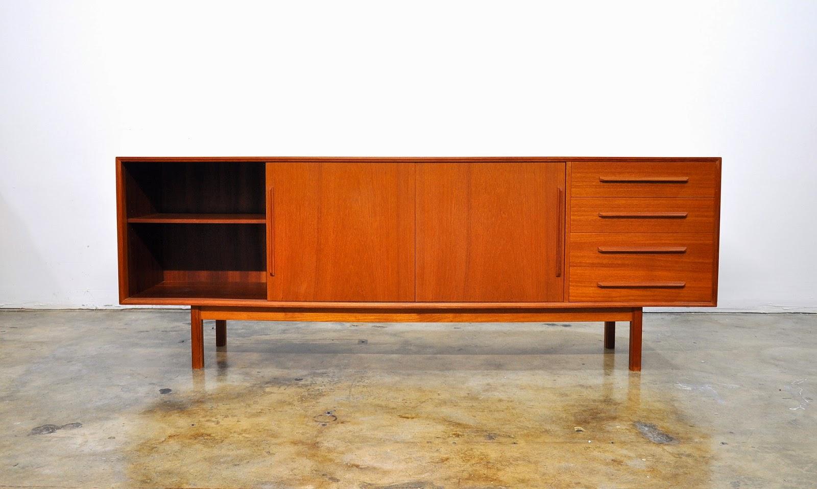 Select modern dyrlund teak credenza bar sideboard - Credenza madia ...