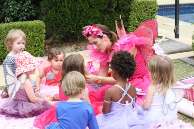 Pink Fairy Princess Birthday Party fairy entertainer