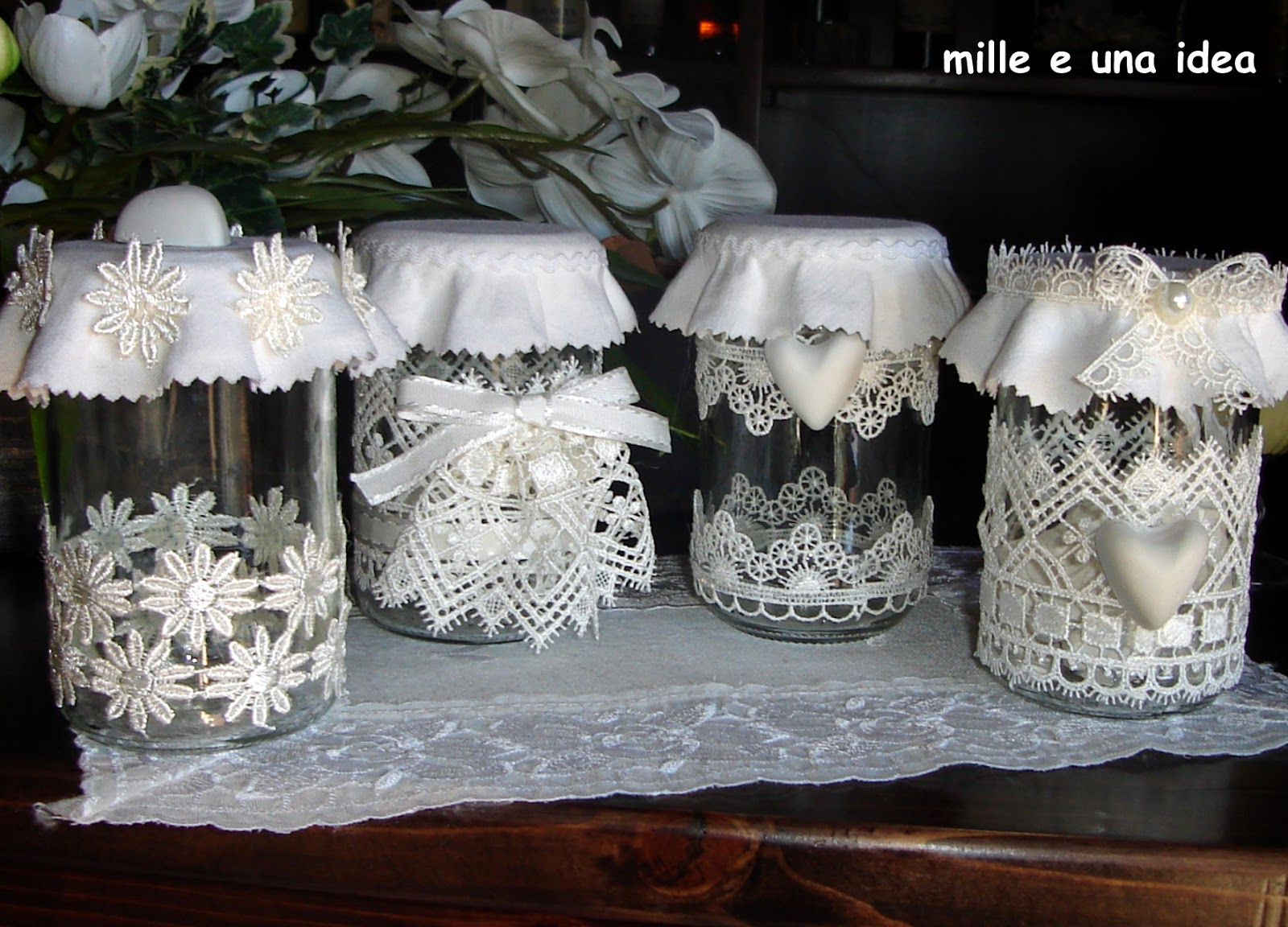 Bomboniere Matrimonio Natalizio : Mille e una idea barattoli di vetro shabby chic