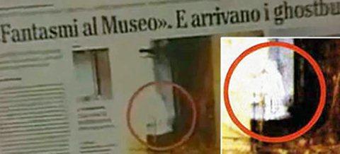 Reportagem sobre fantasma no museu