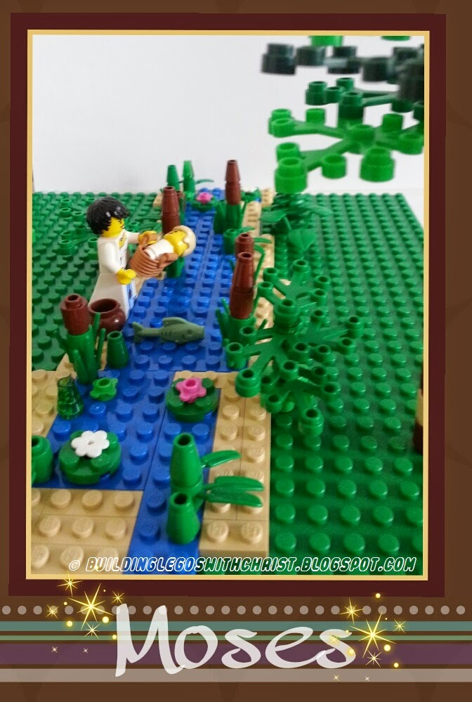 LEGO Bible Story Creation:  Baby Moses