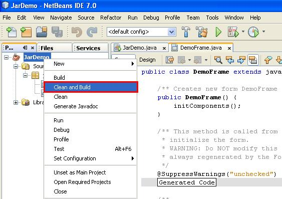 how to use jar file in netbeans