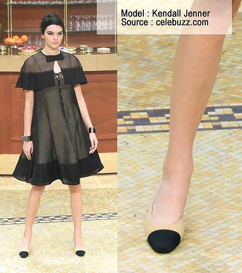Sepatu Chanel Wanita Two Tone Sling Back