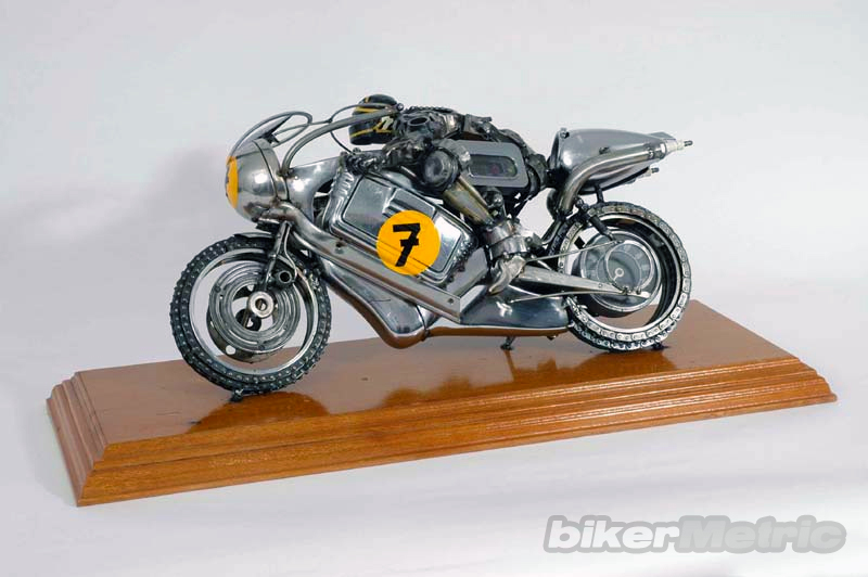 barry sheene motorcycle sculpture | james corbett